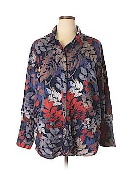 Blair Long Sleeve Button-Down Shirt Size 2X (Plus)