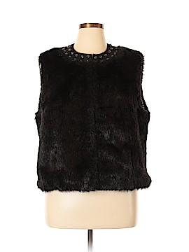 Nygard Collection Faux Fur Vest Size XL