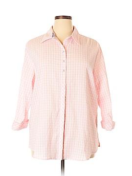 Allison Daley 3/4 Sleeve Button-Down Shirt Size 22 (Plus)