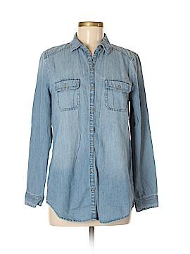 Rubbish Long Sleeve Button-Down Shirt Size M
