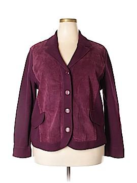 Jones New York Collection Faux Leather Jacket Size 2X (Plus)