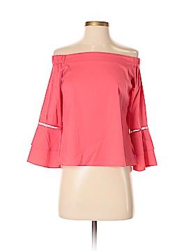 Waverly Grey Long Sleeve Blouse Size S