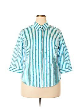 Allison Daley 3/4 Sleeve Button-Down Shirt Size 14 (Petite)
