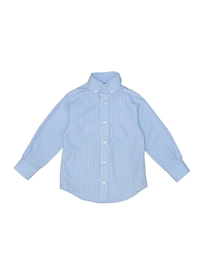 c5f67279067a Class Club 100% Cotton Print Light Blue Long Sleeve Button-Down ...
