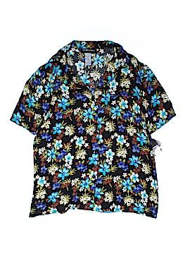 Sag Harbor Short Sleeve Button-Down Shirt Size 2X (Plus)