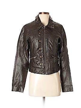 Tribal Faux Leather Jacket Size 4
