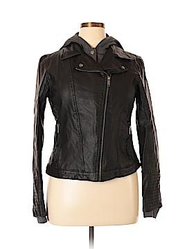 Hollister Faux Leather Jacket Size XL