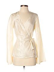 Laundry by Shelli Segal Women Long Sleeve Silk Top Size S