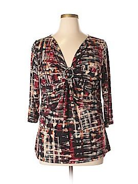 Susan Bristol 3/4 Sleeve Top Size 1X (Plus)