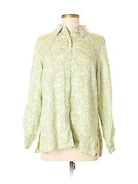 Villager Sport by Liz Claiborne Long Sleeve Button-Down Shirt Size M