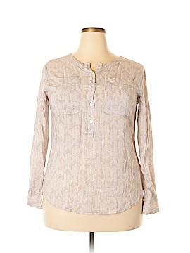 Carole Little Long Sleeve Button-Down Shirt Size L