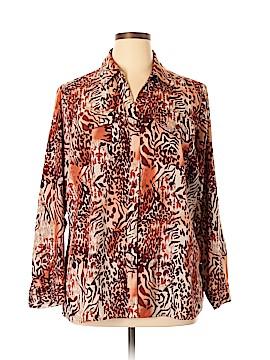 Elementz Long Sleeve Button-Down Shirt Size 2X (Plus)
