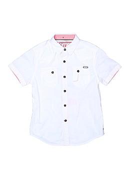 Guess Short Sleeve Button-Down Shirt Size 8 - 10