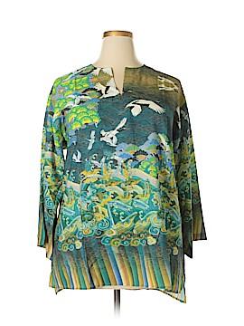 Citron Santa Monica Collection 3/4 Sleeve Blouse Size 1X (Plus)