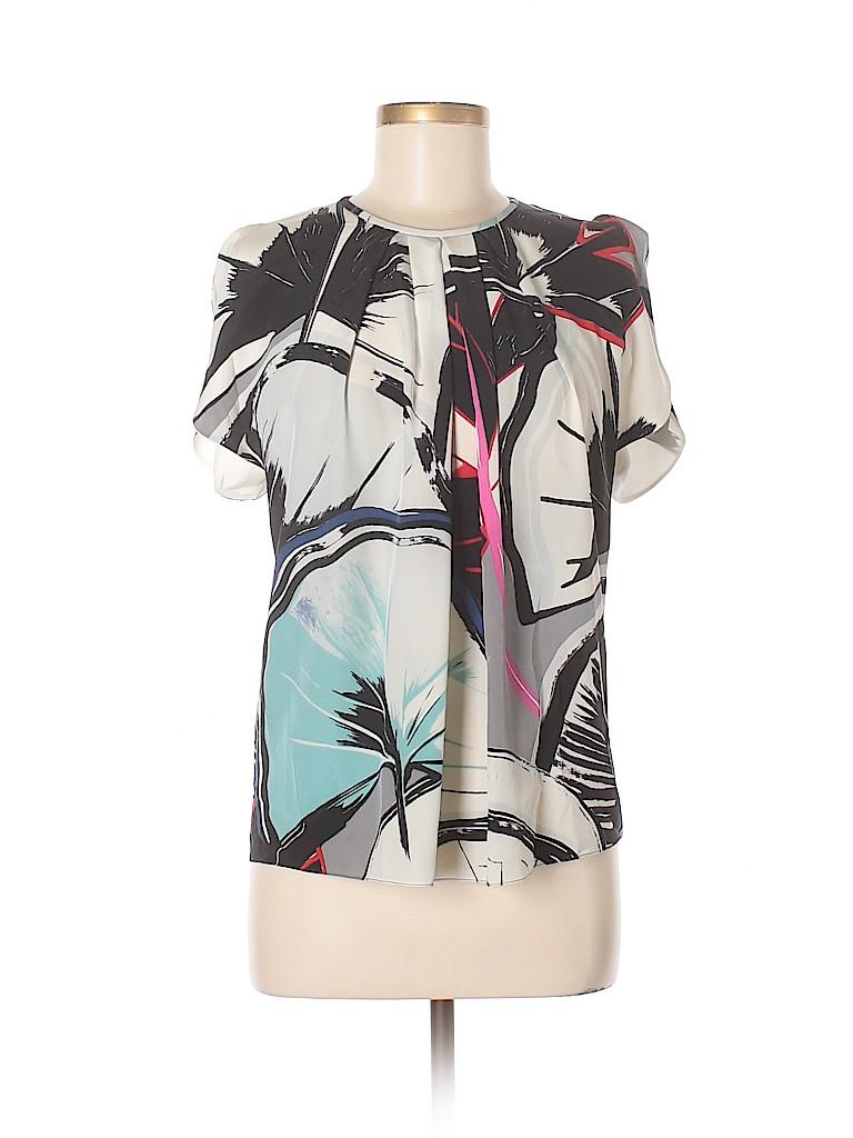 Balenciaga Women Short Sleeve Silk Top Size 38 (IT)