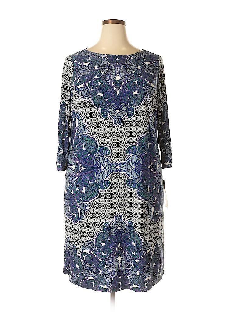 London Times Women Casual Dress Size 18 (Plus)