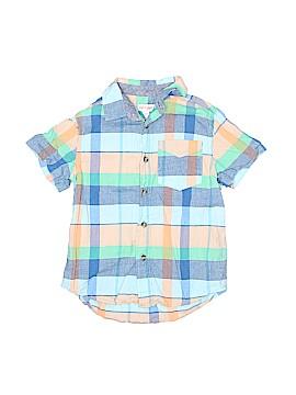 Cat & Jack Short Sleeve Button-Down Shirt Size 4 - 5