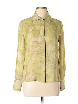 Rena Rowan Long Sleeve Silk Top Size 6