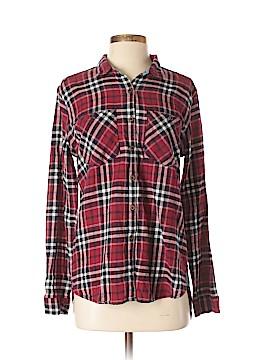 SNEAK PEEK Long Sleeve Button-Down Shirt Size L