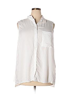 New Leaf Sleeveless Button-Down Shirt Size 2X (Plus)