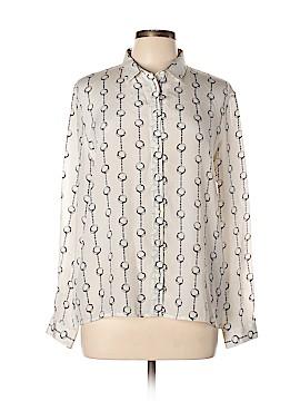 The Kooples Long Sleeve Silk Top Size Lg (4)