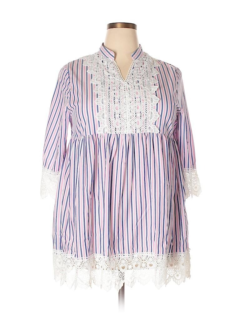 Velzera Women 3/4 Sleeve Blouse Size 1X (Plus)