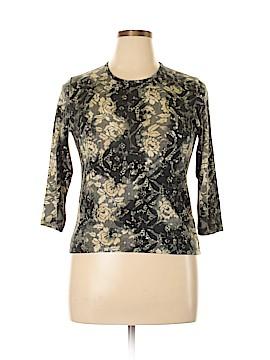 Lynn Ritchie 3/4 Sleeve Silk Top Size L
