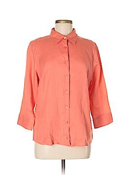 L.L.Bean Factory Store 3/4 Sleeve Button-Down Shirt Size M