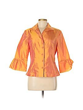 Marisa Baratelli Long Sleeve Silk Top Size 8