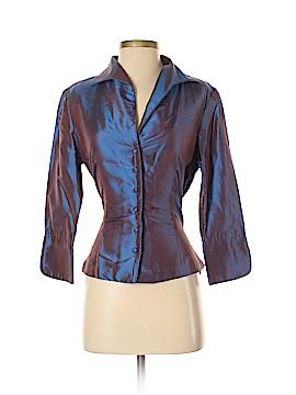 Marisa Baratelli Long Sleeve Silk Top Size 6