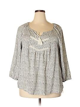 Mudd Long Sleeve Blouse Size 2X (Plus)