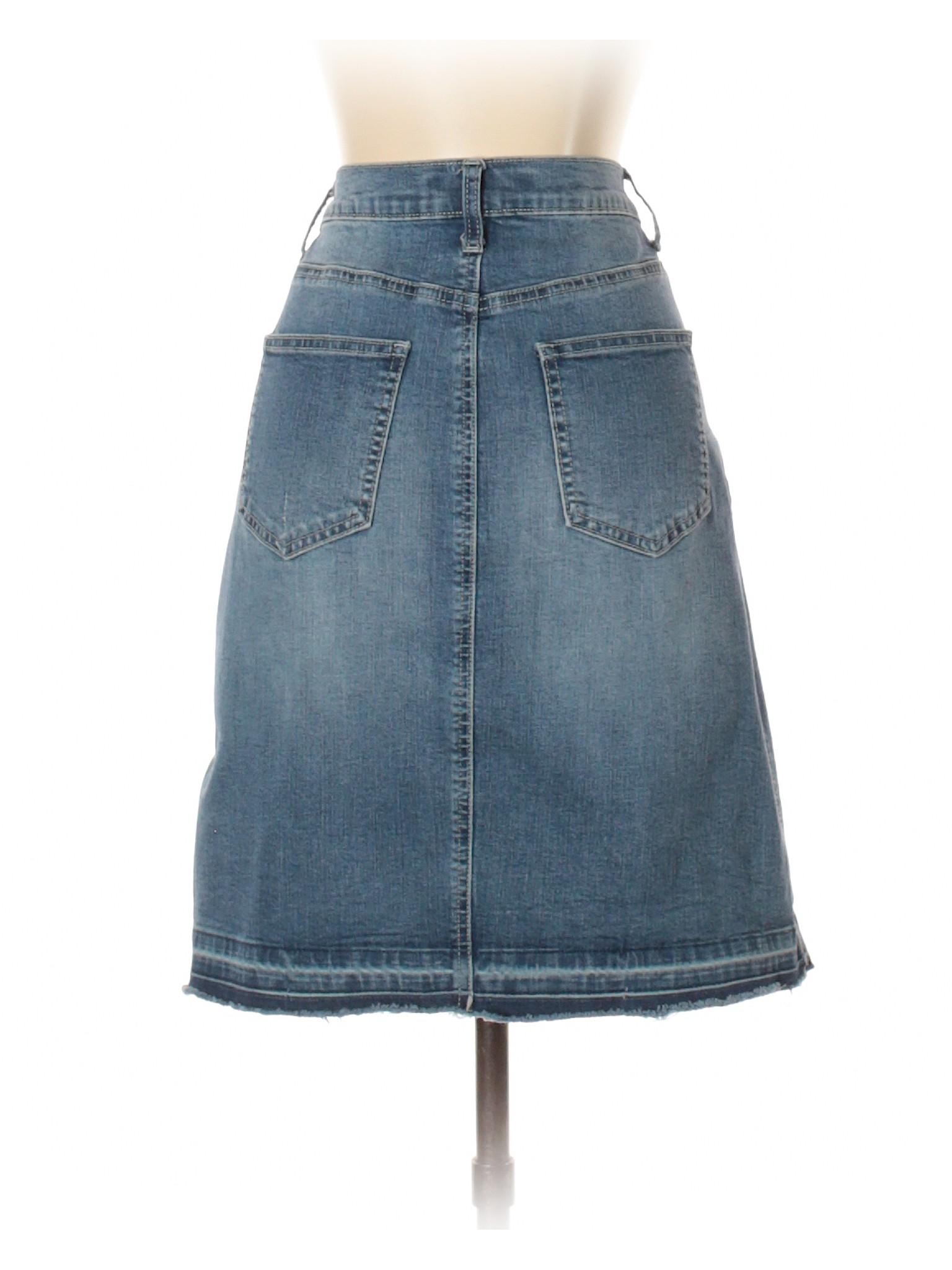 661b83df1b Cato Solid Blue Denim Skirt Size 6 - 59% off | thredUP