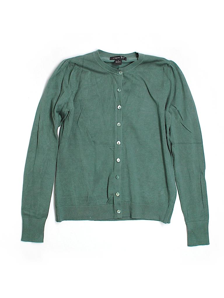 August Silk Women Cardigan Size M