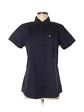 TYR Short Sleeve Button-Down Shirt Size M
