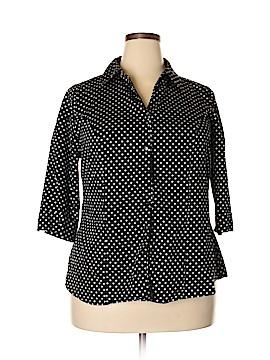 Lane Bryant 3/4 Sleeve Button-Down Shirt Size 18 (Plus)