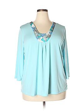 Mary McFadden 3/4 Sleeve Blouse Size 1X (Plus)