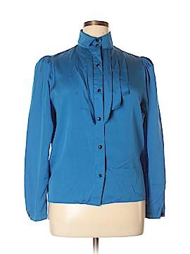 Chaus Long Sleeve Silk Top Size 14