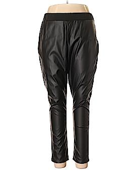 Woman Within Faux Leather Pants Size 18 (L) (Plus)