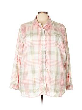 Laura Scott Long Sleeve Blouse Size 3X (Plus)