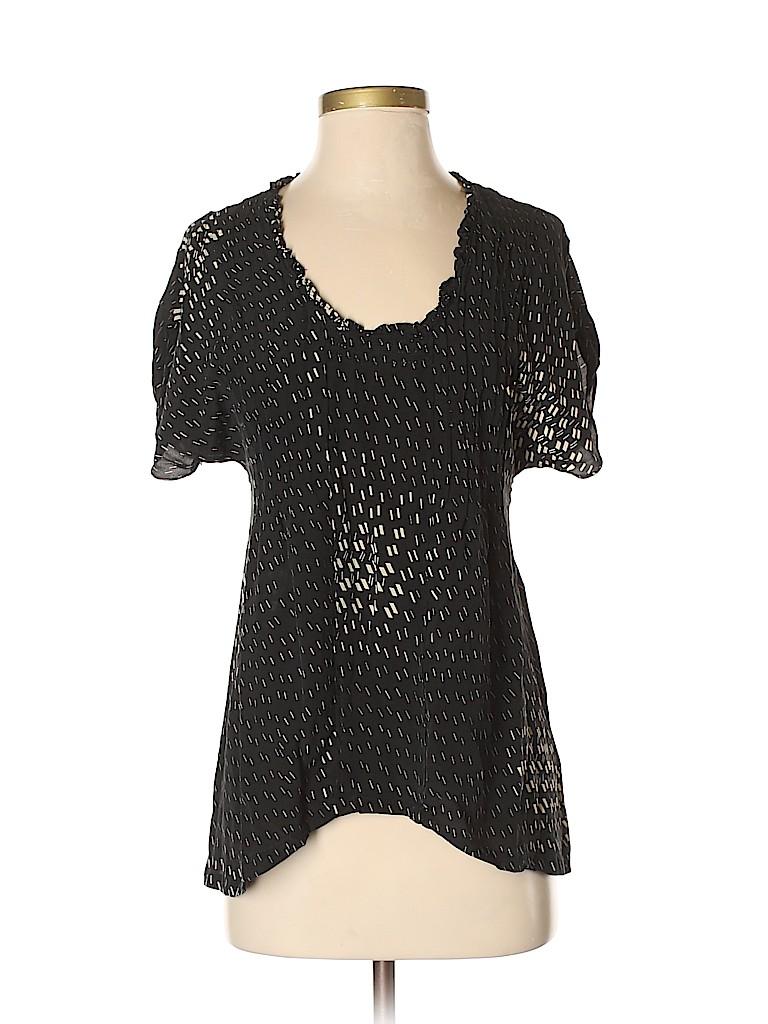 Dil Women Short Sleeve Silk Top Size 0