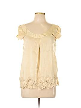 Gold Hawk Short Sleeve Silk Top Size L