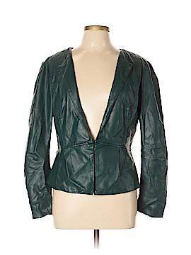 Elle Faux Leather Jacket Size L