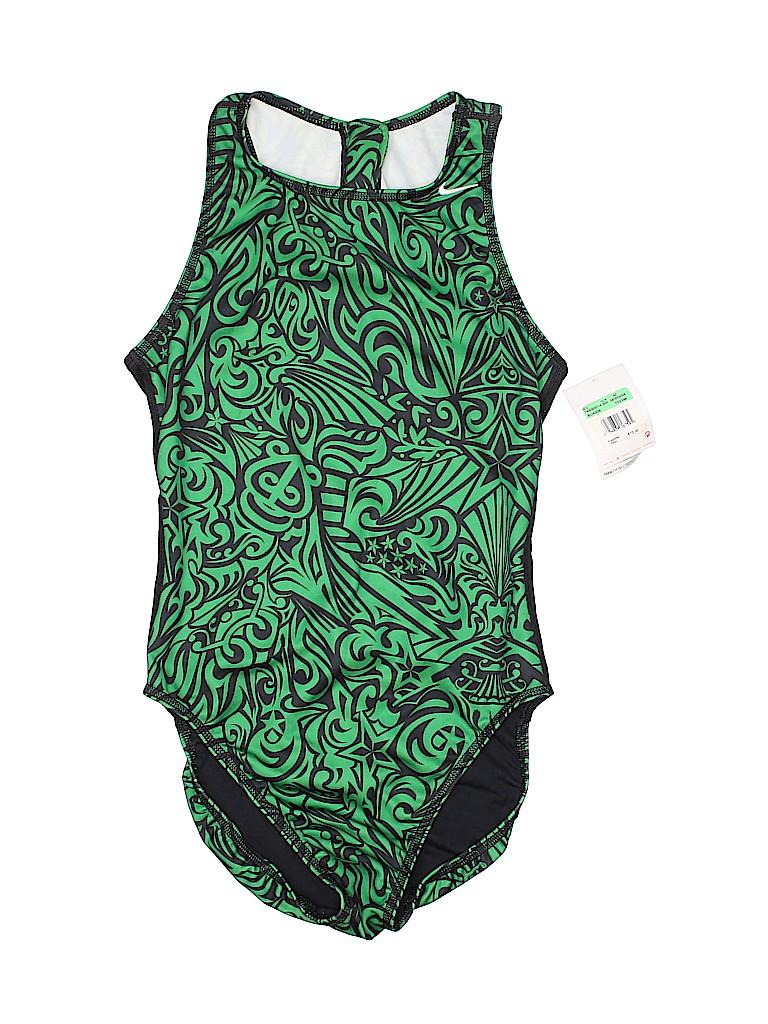 cbd9b7dd05 Nike Color Block Green One Piece Swimsuit Size 34 (EU) - 50% off ...