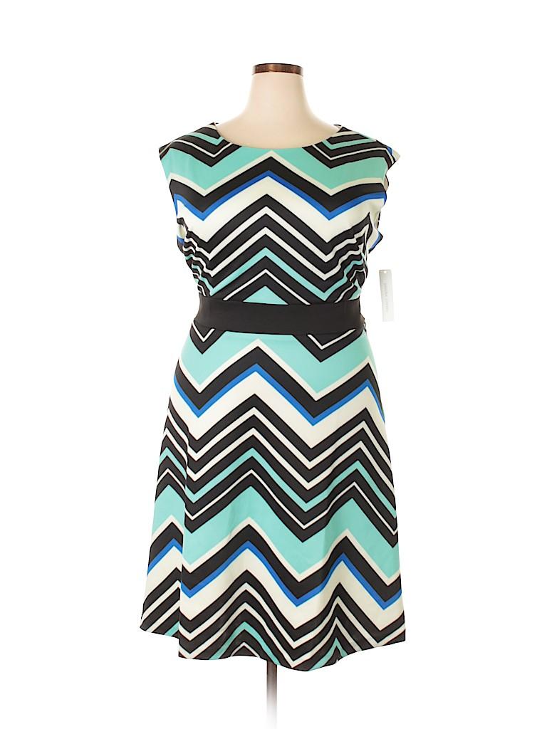 Sandra Darren Women Casual Dress Size 18 (Plus)