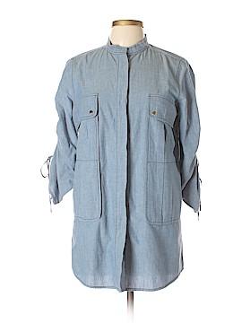 Tory Burch 3/4 Sleeve Button-Down Shirt Size 10