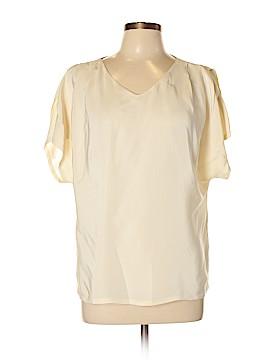 Nordstrom Short Sleeve Silk Top Size L