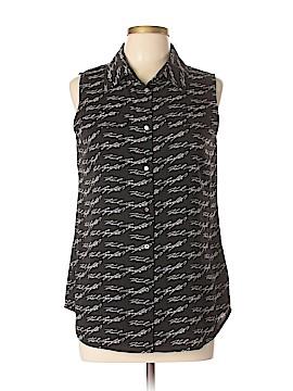 Karl Lagerfeld Paris Sleeveless Button-Down Shirt Size M