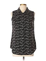 Karl Lagerfeld Paris Sleeveless Button-down Shirt