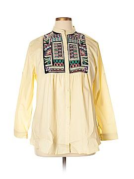 Velzera Long Sleeve Button-Down Shirt Size 1XL (Plus)