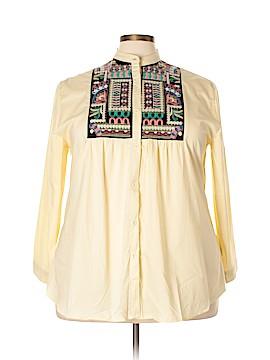 Velzera Long Sleeve Button-Down Shirt Size 3X (Plus)
